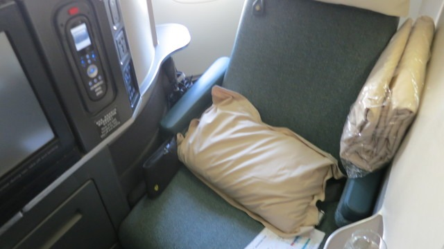 "The ""coffin"" seat on a Cathay Pacific 747"